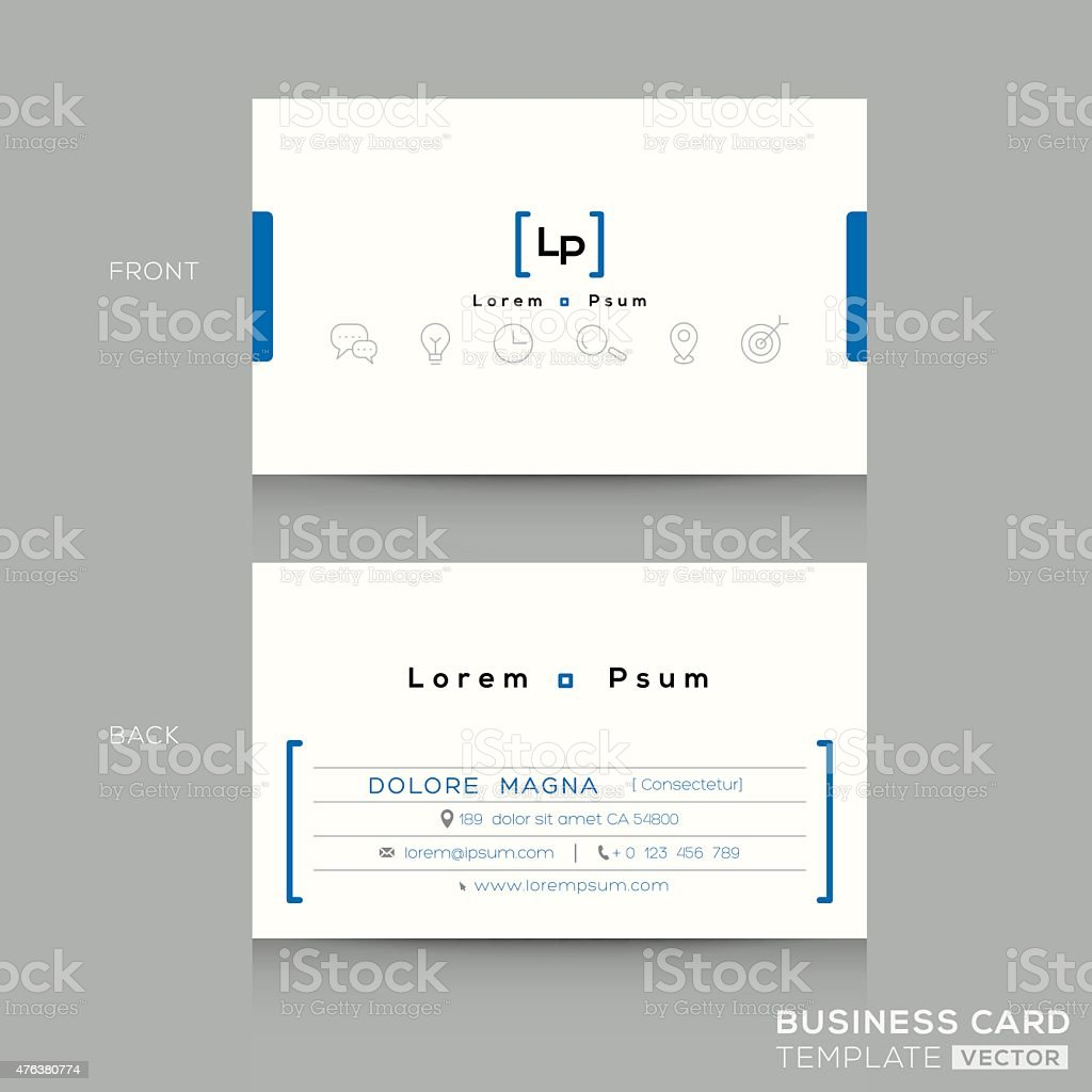 Minimal clean design business card Template vector art illustration