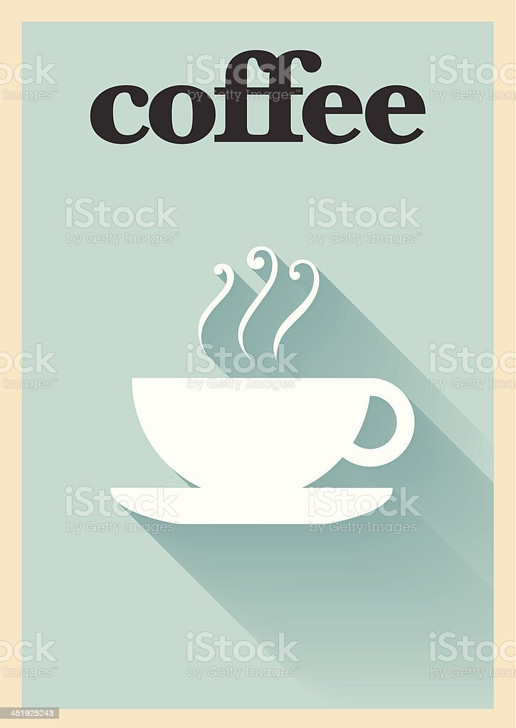 Minimal Coffee Poster royalty-free stock vector art
