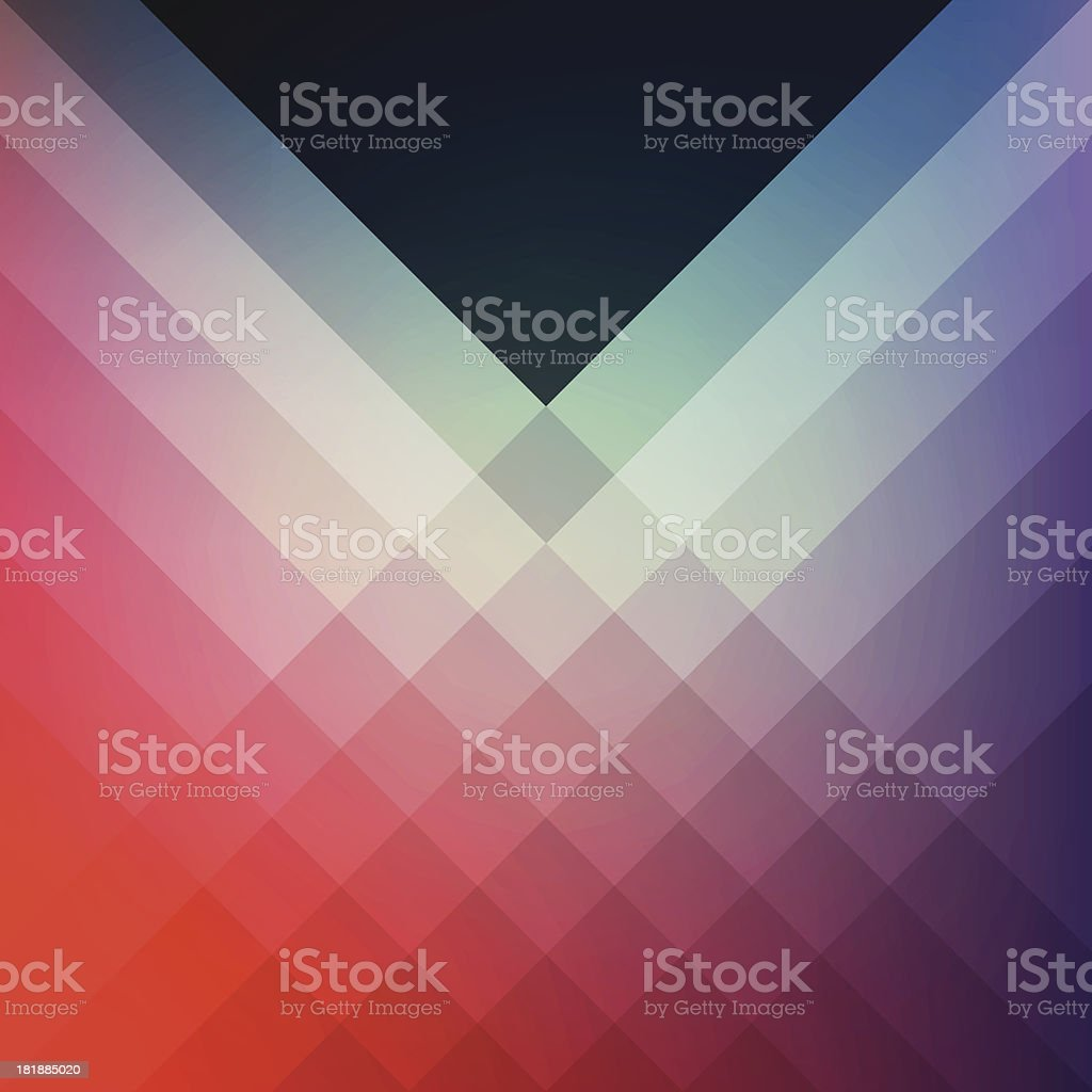 Minimal Graphic Diamond Pattern Design Template Frame Smooth Shadow Background vector art illustration