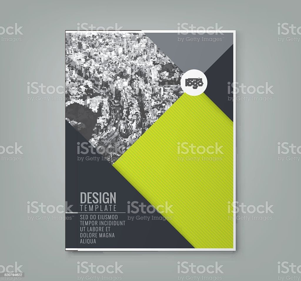 minimal green color design template background layout vector art illustration