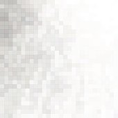 Minimal halftone background with gray mosaic tiles