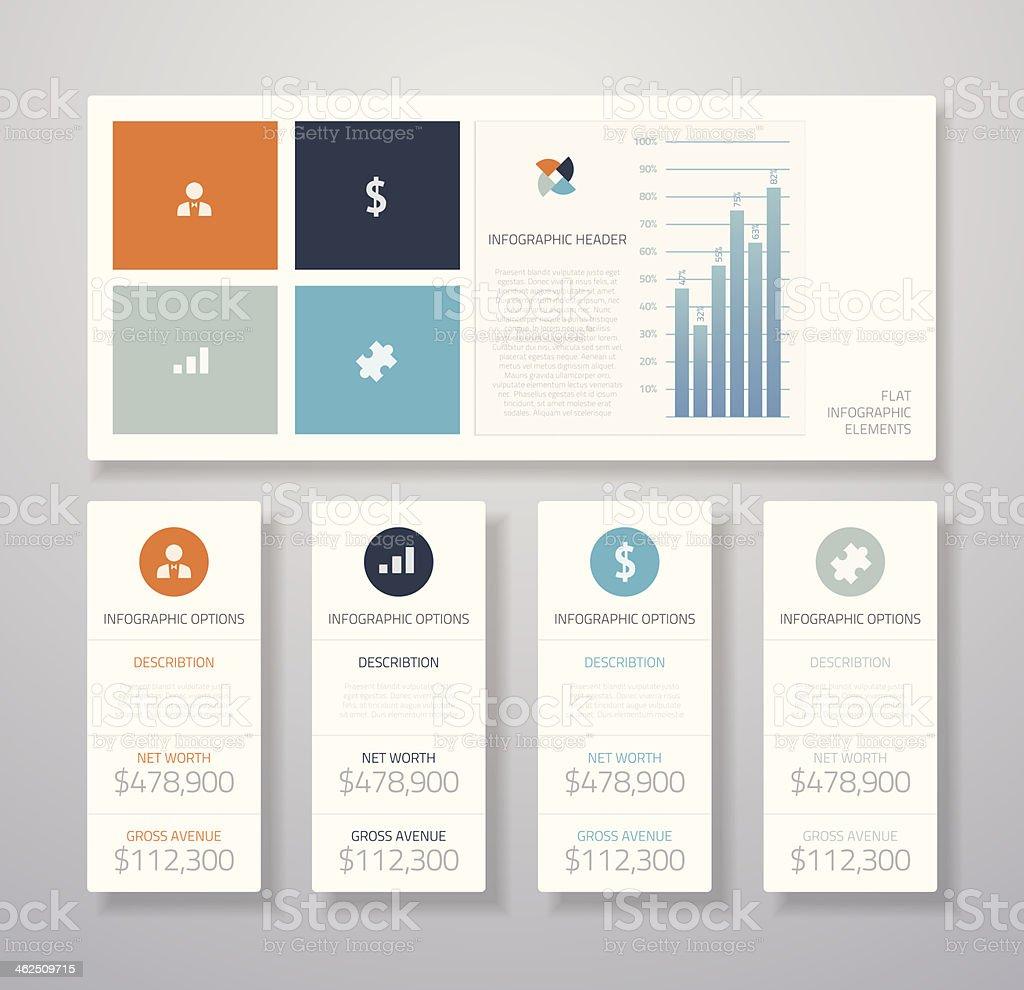 Minimal infographic flat business ui elements vector illustration vector art illustration
