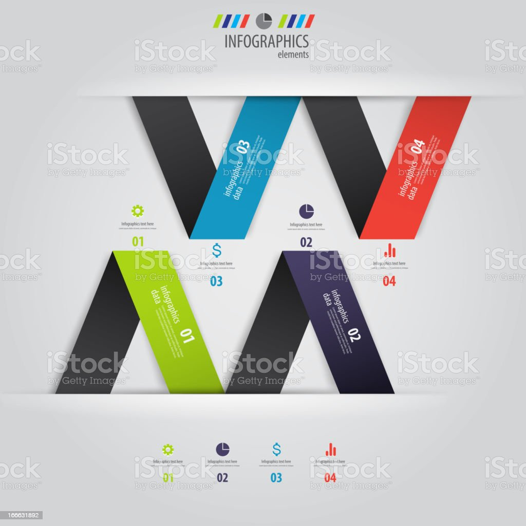 Minimal infographics design. Vector royalty-free stock vector art