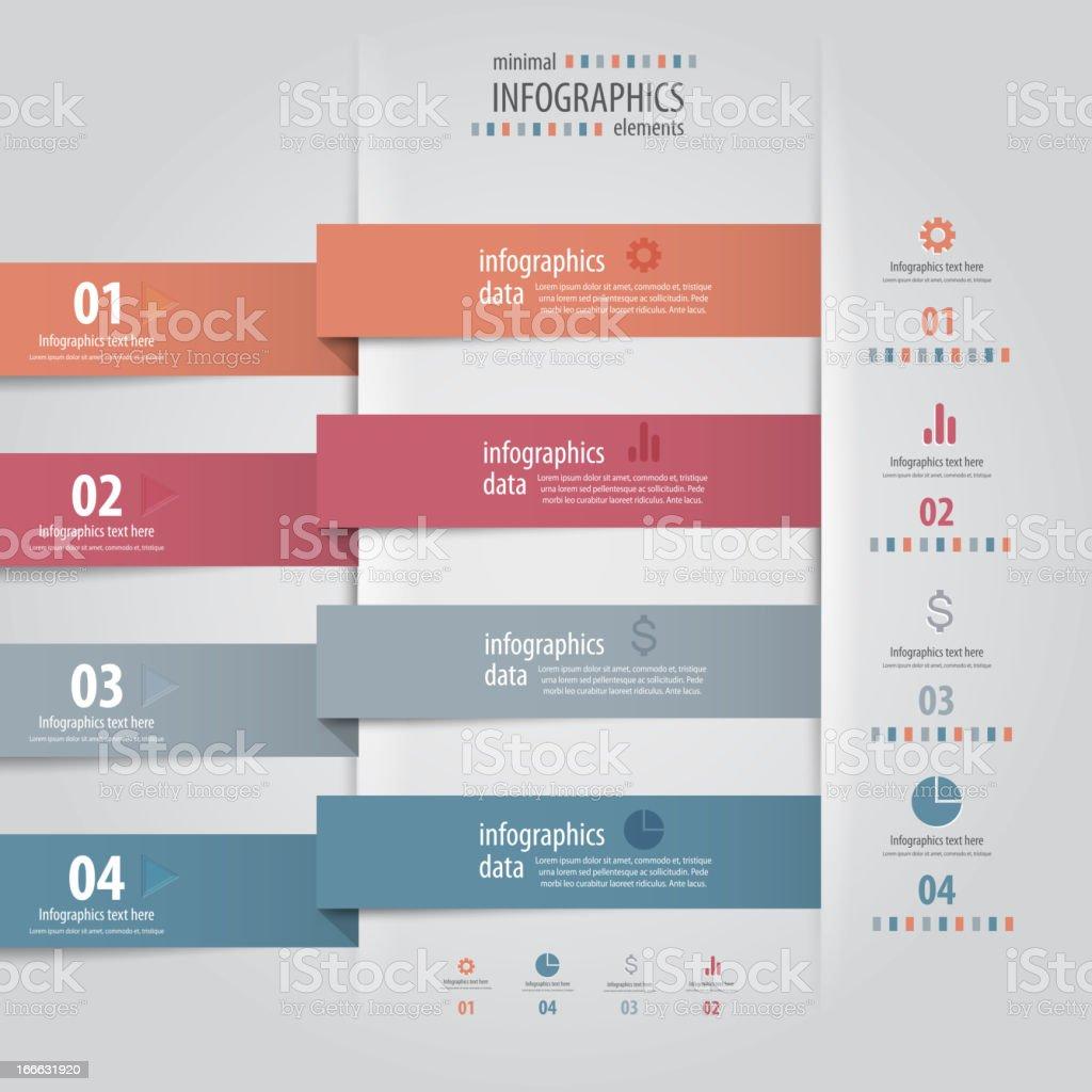 Minimal infographics design. Vector royalty-free stock vector art