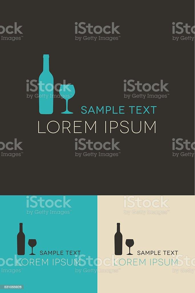 Minimal Logo - Wine vector art illustration
