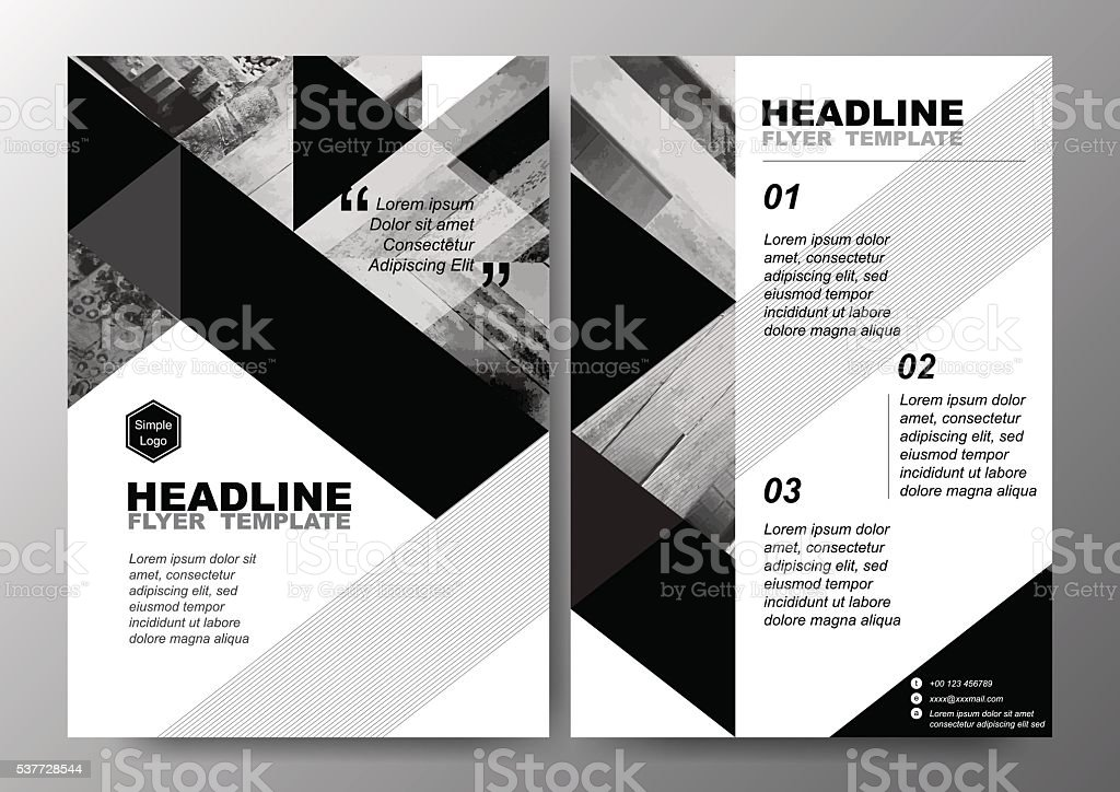 Minimal Poster Brochure Flyer Design Layout Background Vector