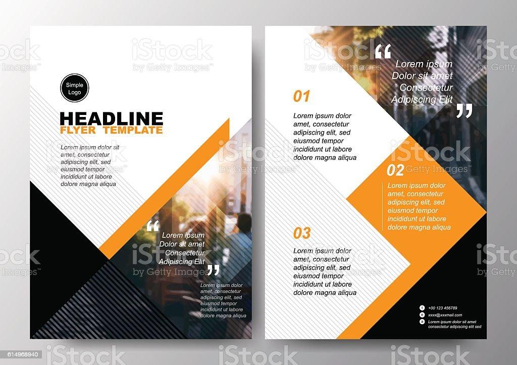 Minimale Plakat Broschüre design-Layout Flyer Hintergrund Vektor Vorlage der A4 – Vektorgrafik