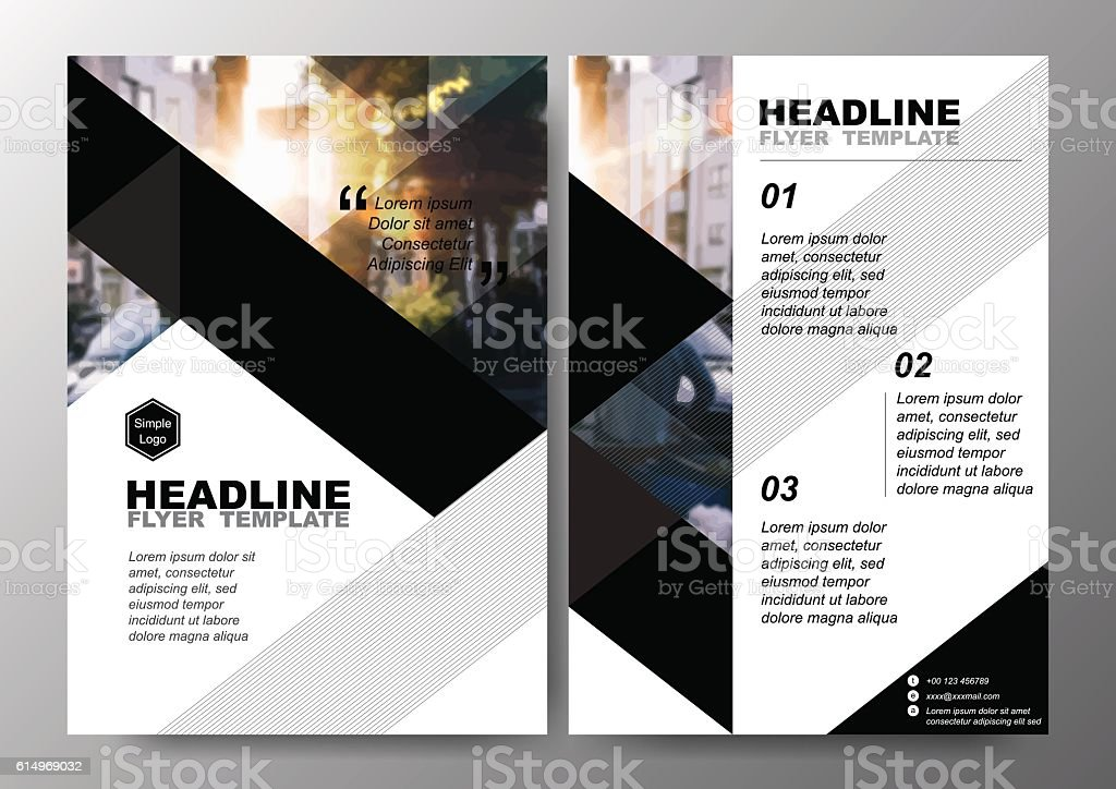 Minimal Poster Brochure Flyer design Layout background vector template A4 vector art illustration