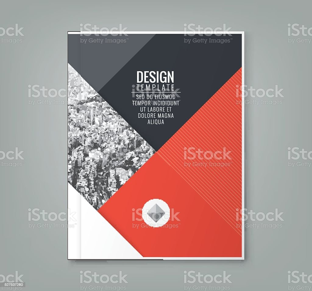 minimal red color design layout template background vector art illustration