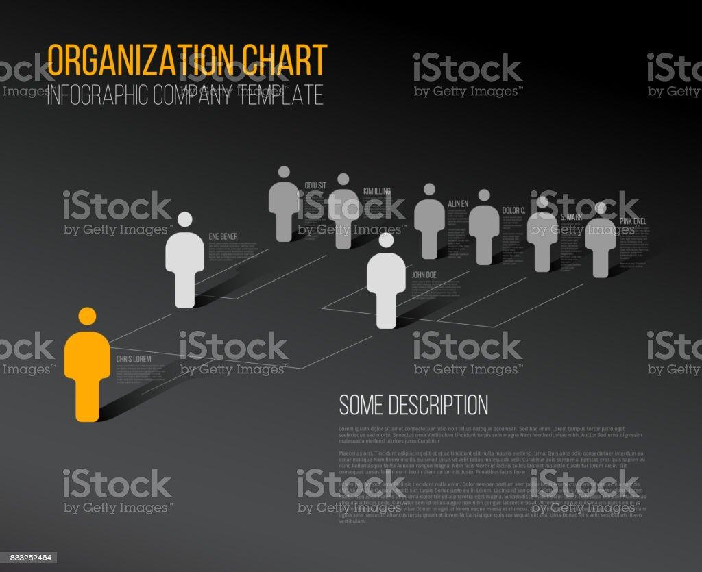 Minimalist hierarchy 3d chart vector art illustration