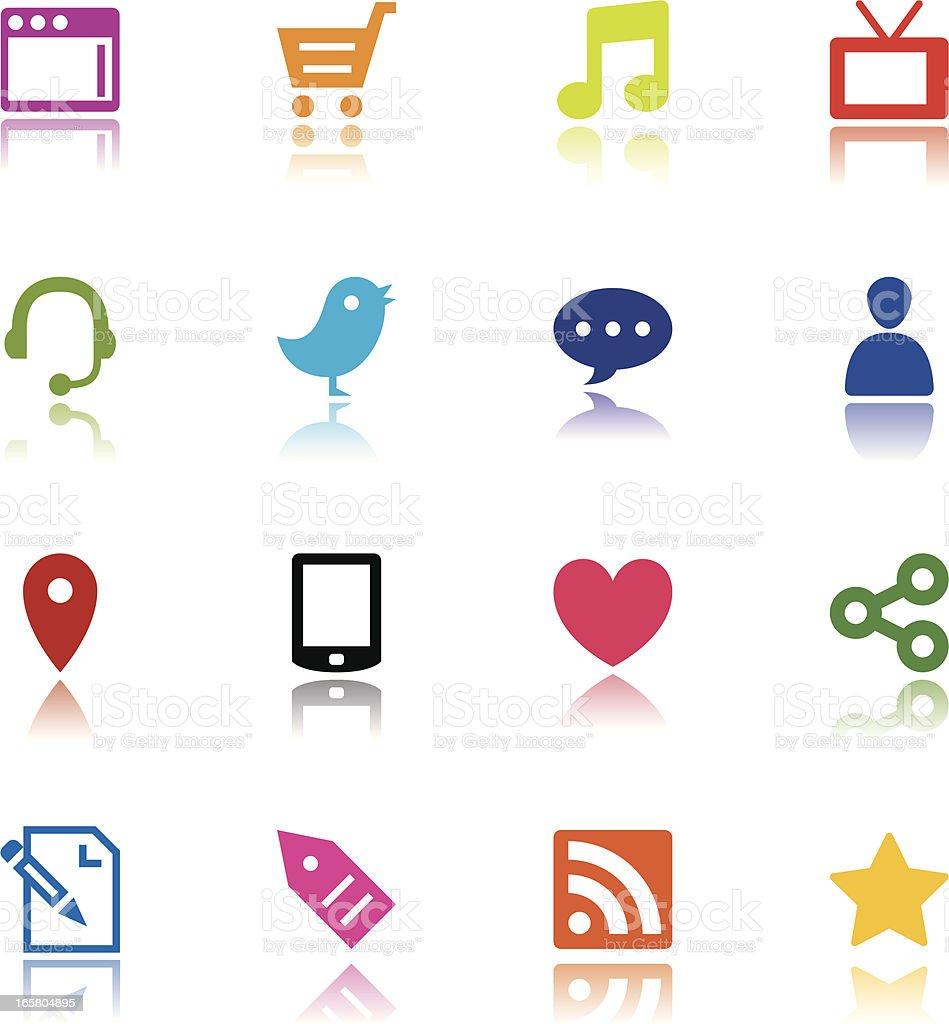 Minimalist Internet Media Icons royalty-free stock vector art