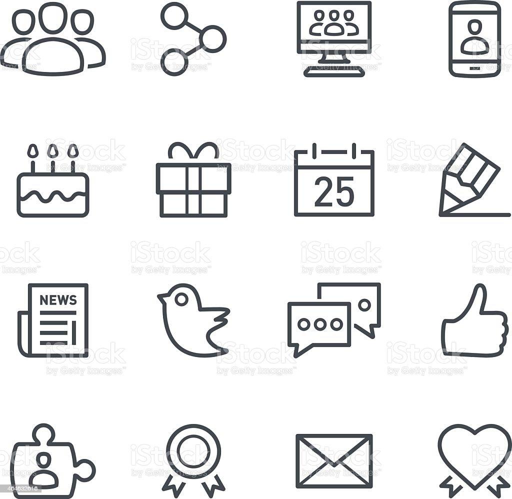Minimalist social media icons in a blank background vector art illustration