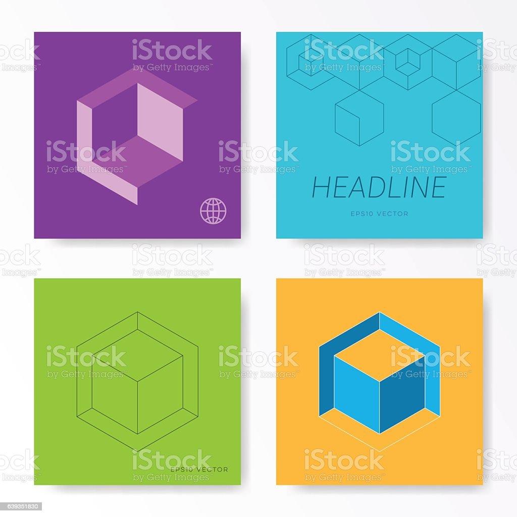 mini st square card cover design templates stock vector art mini st square card cover design templates royalty stock vector art