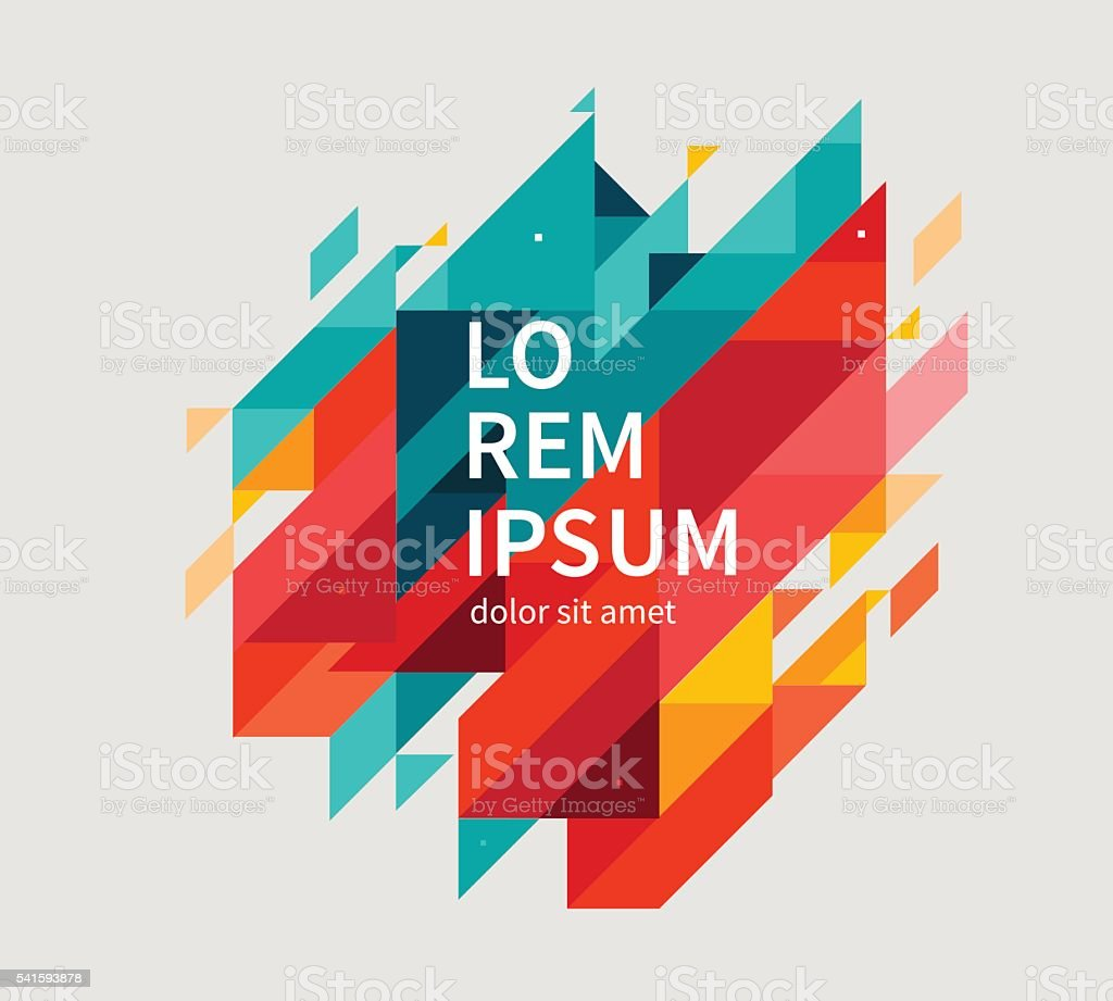 Minimalistic design, creative concept. Geometric shapes. royalty-free stock vector art