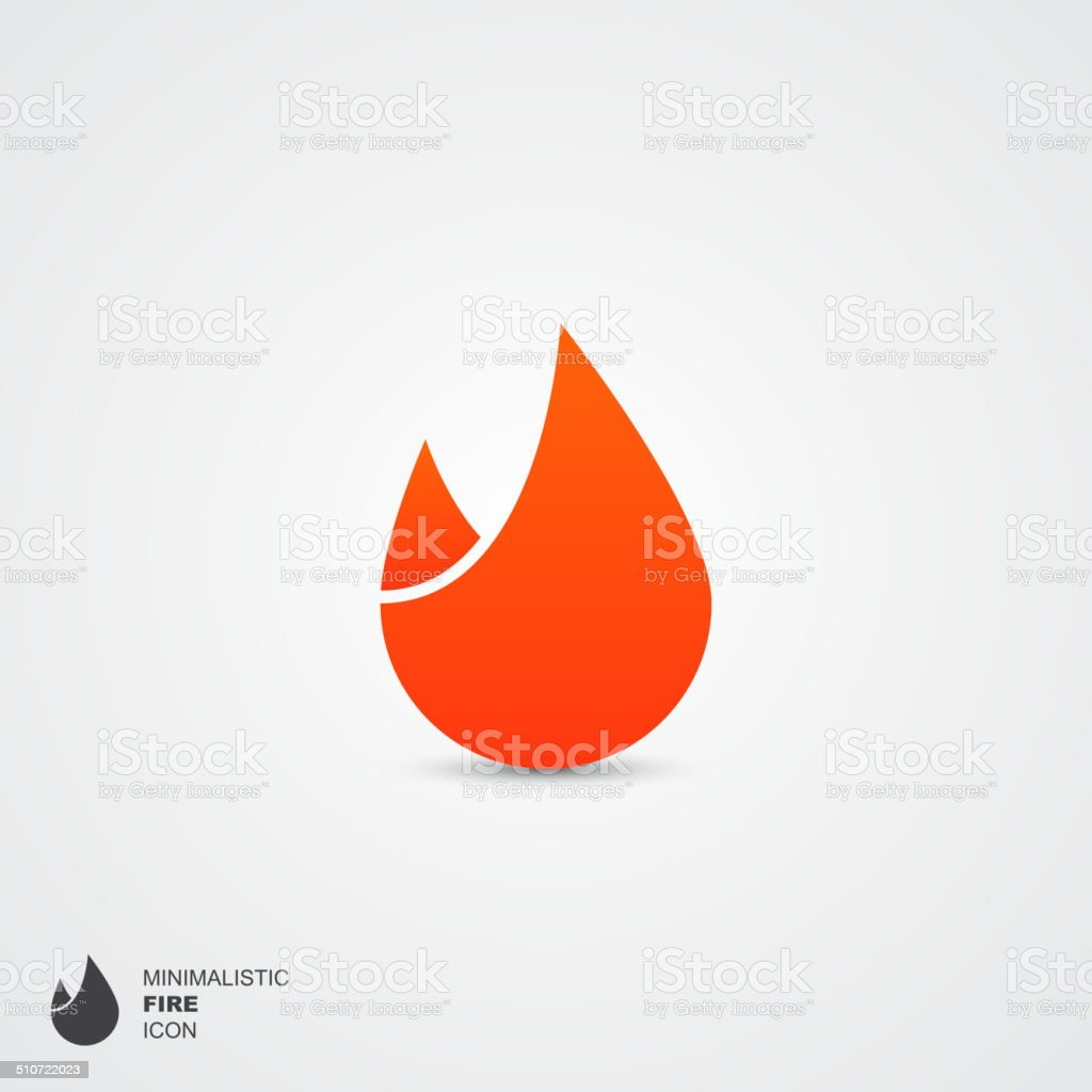 Minimalistic fire icon, vector illustration vector art illustration