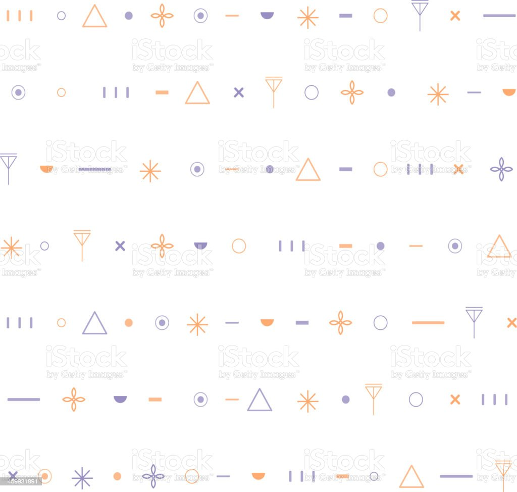 Minimalistic geometric seamless pattern. Vector. royalty-free stock vector art
