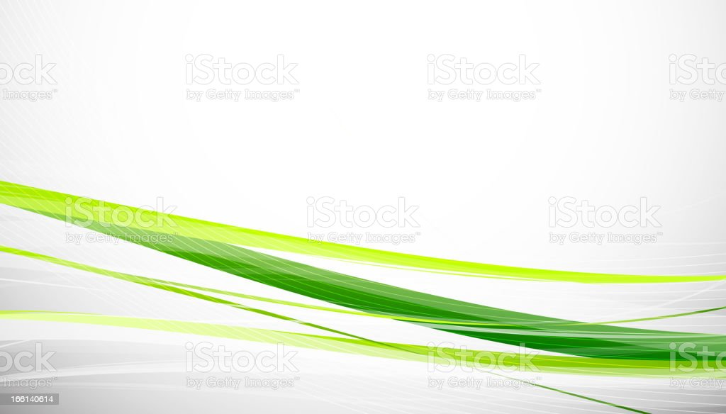 Minimalistic green line background vector art illustration