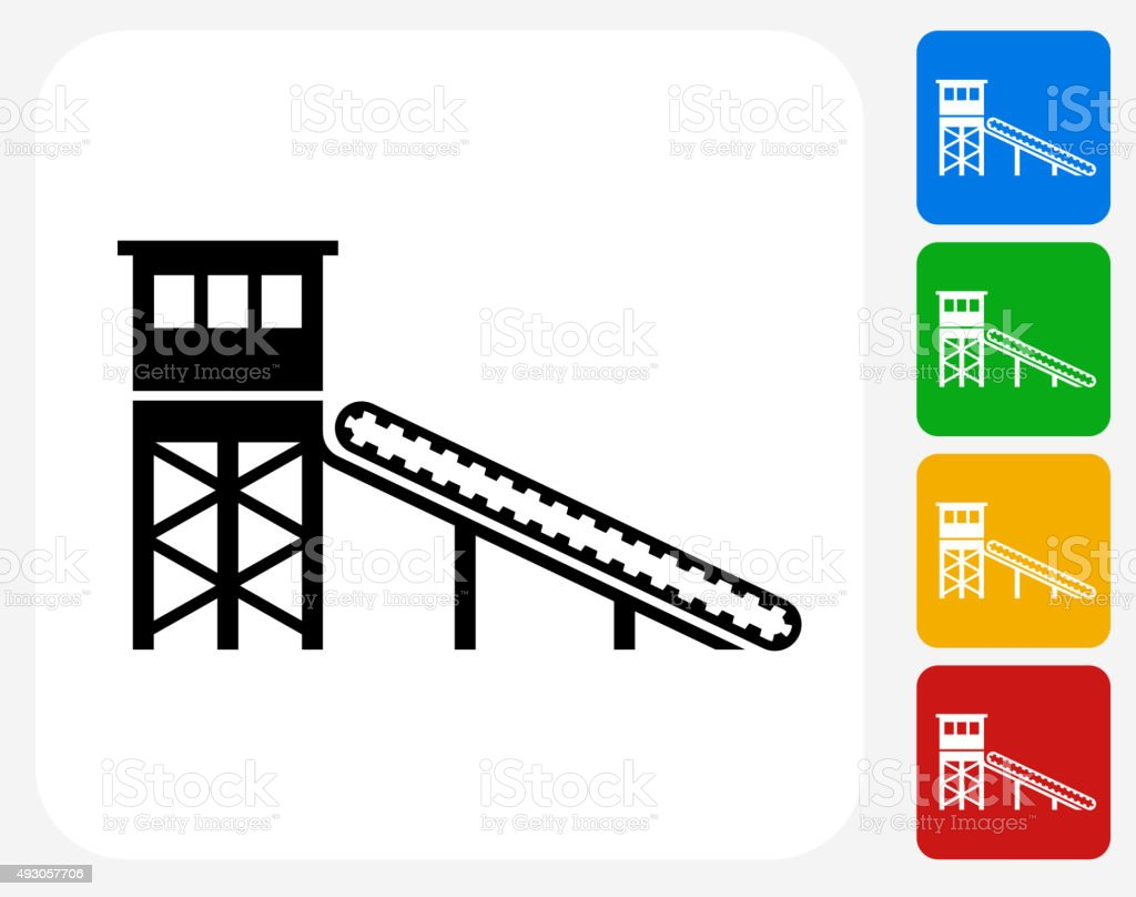 Mining Deposit Icon Flat Graphic Design vector art illustration