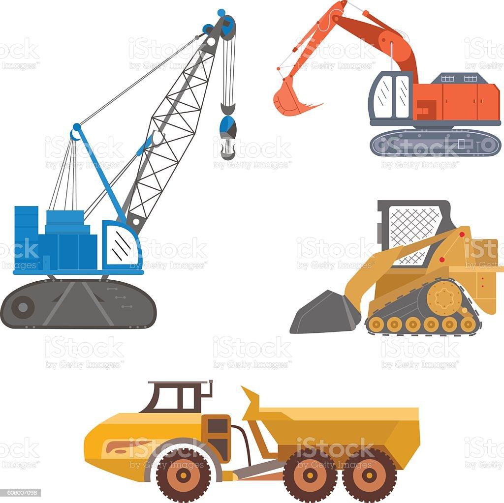 Mining Machinery Color vector art illustration