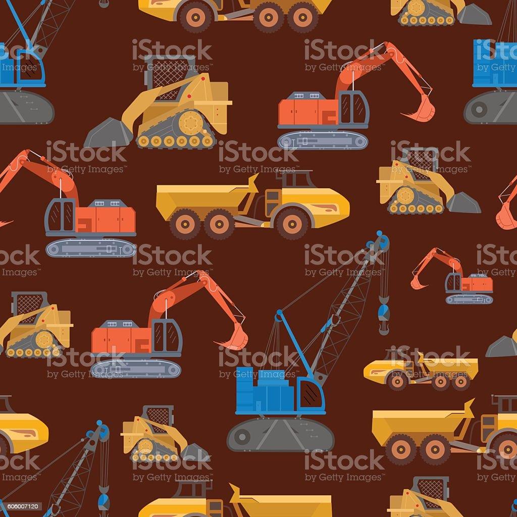 Mining Machinery Pattern vector art illustration