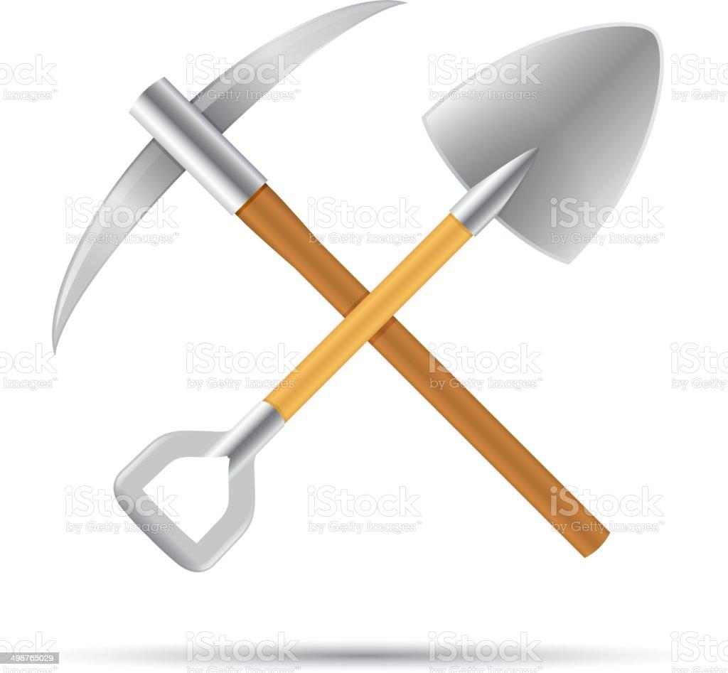 Mining Tools vector art illustration