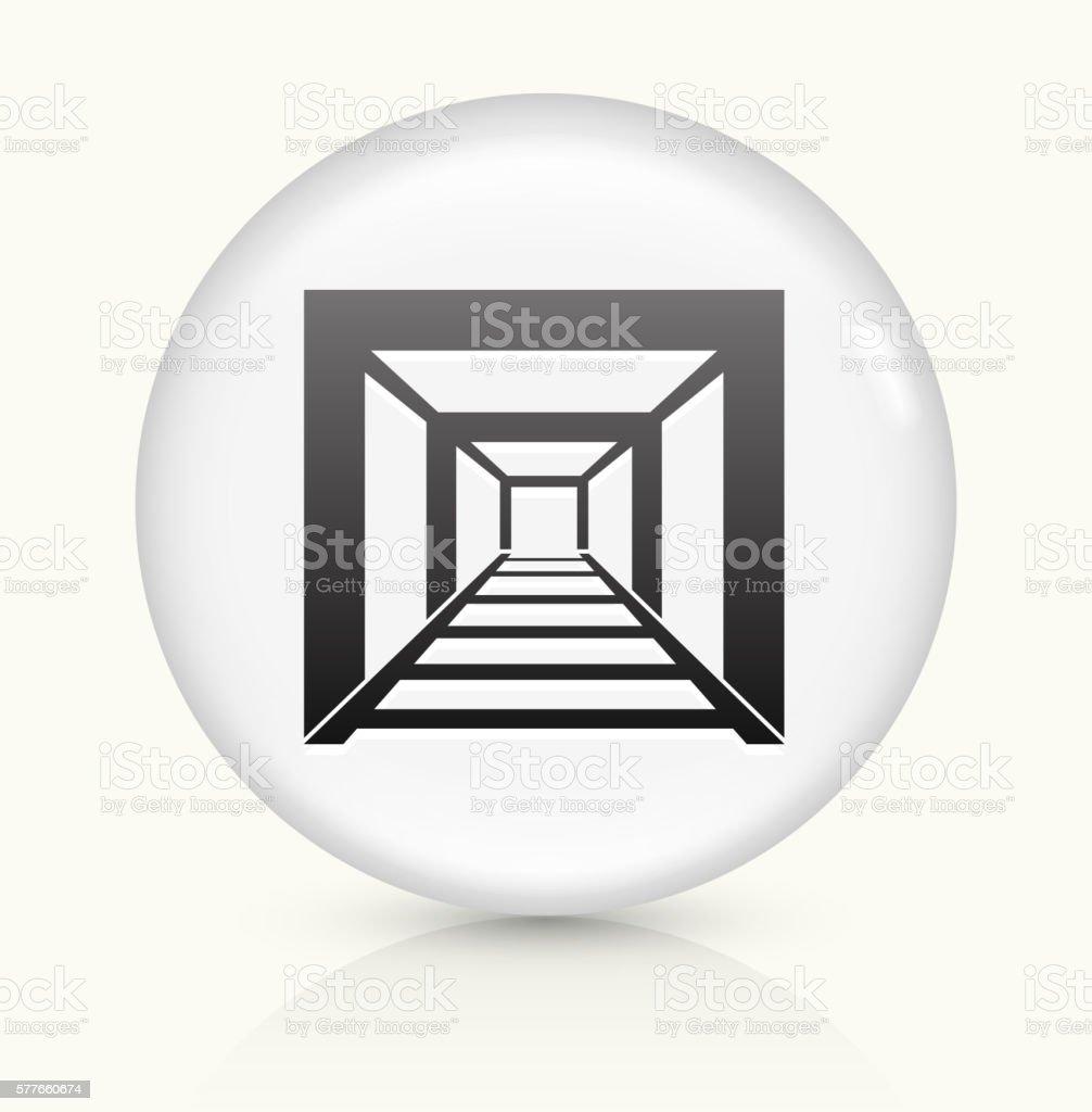 Mining Tunnel icon on white round vector button vector art illustration
