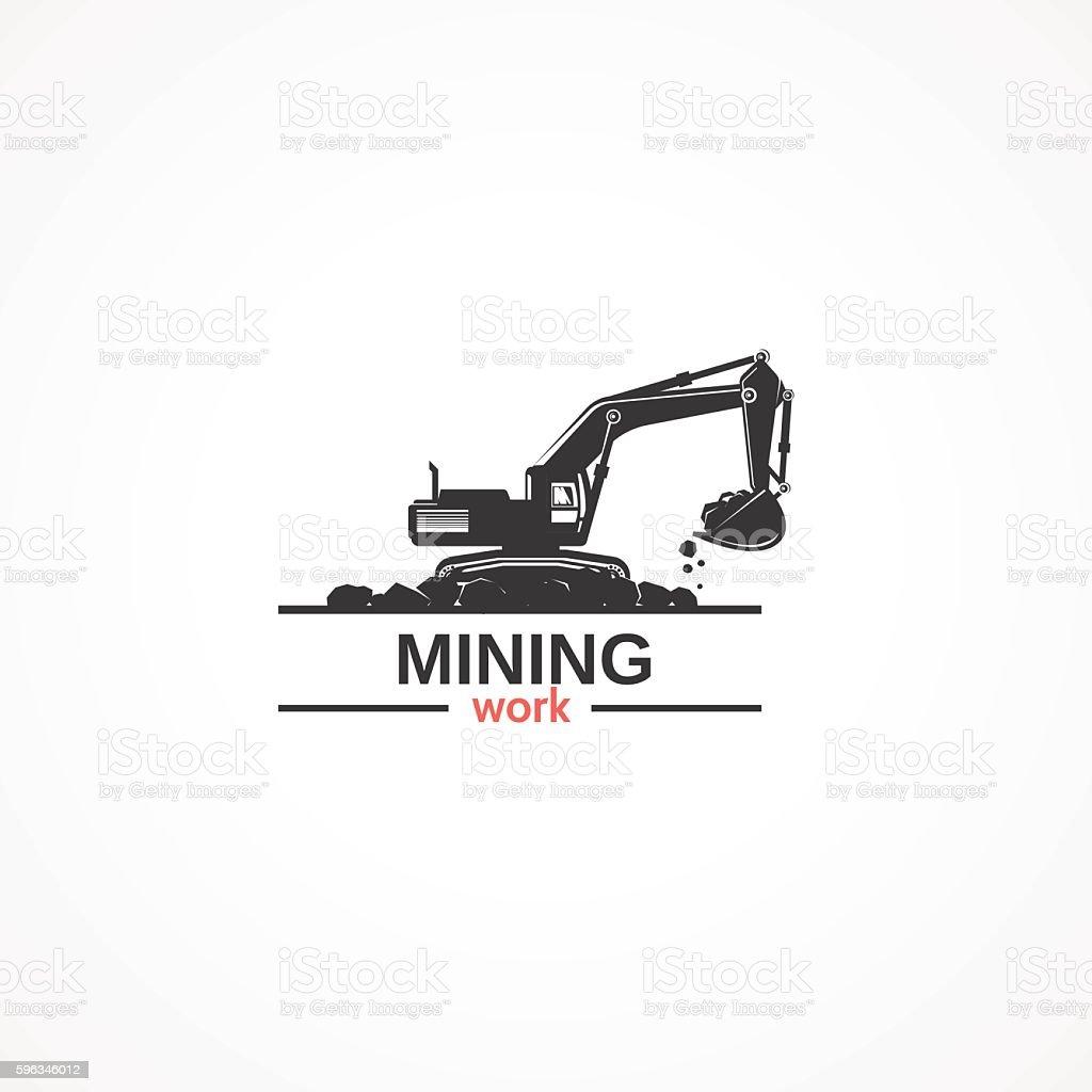 Mining work. vector art illustration