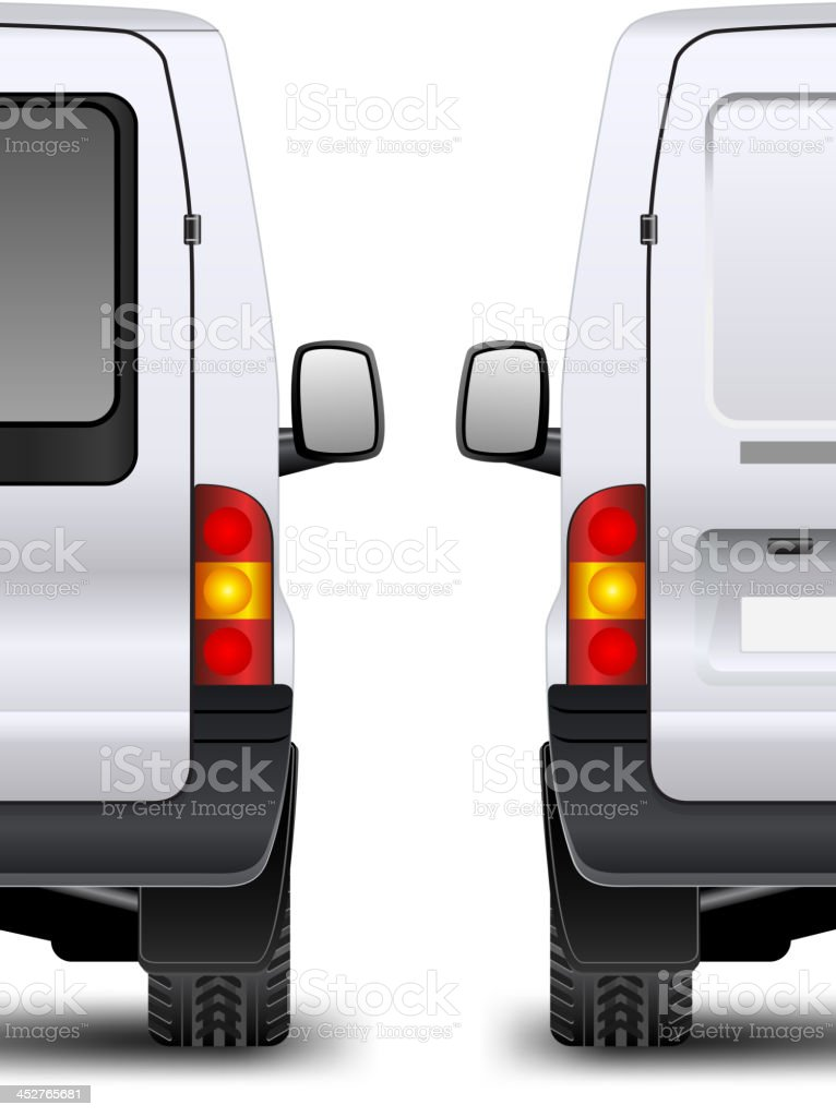 Minivan rear view royalty-free stock vector art