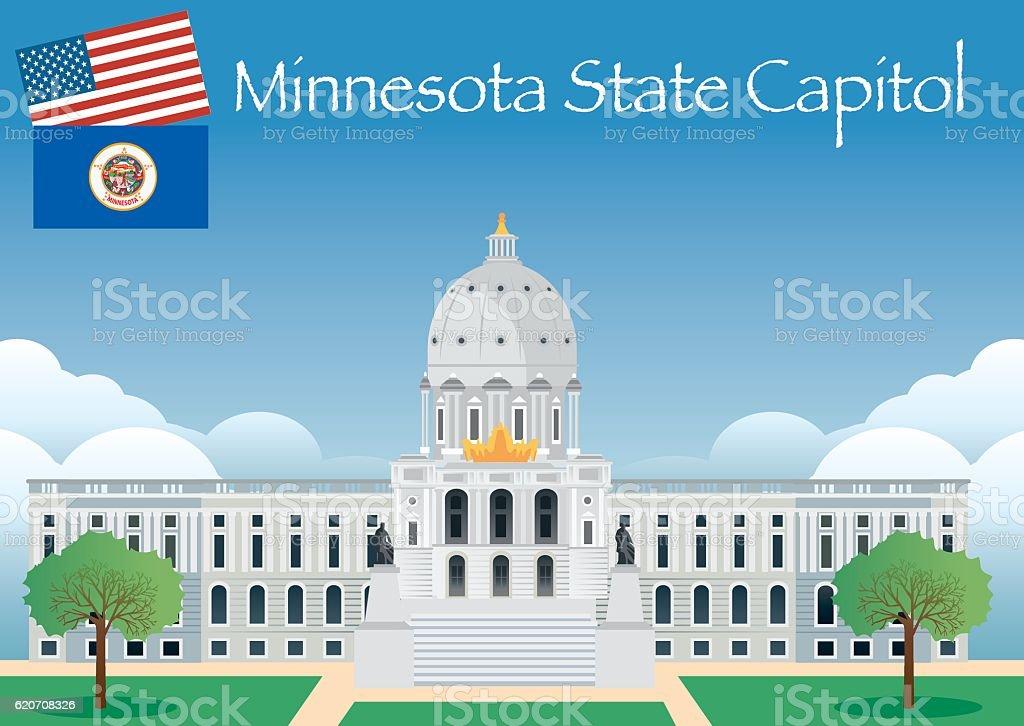 Minnesota State Capitol vector art illustration