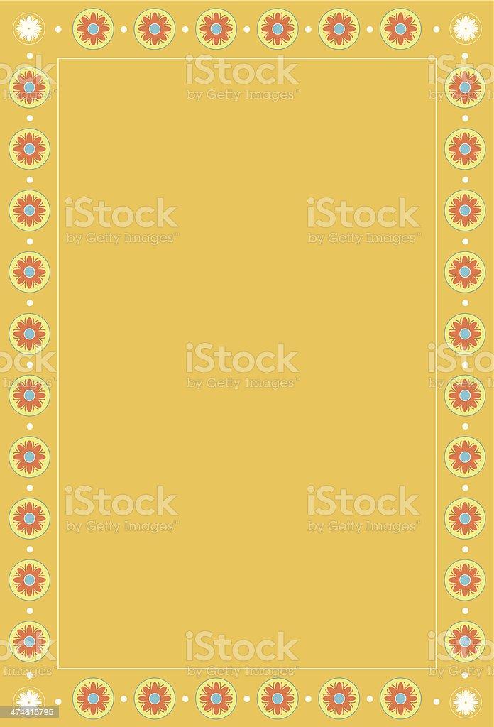 Minoan Inspired Rosette Border vector art illustration