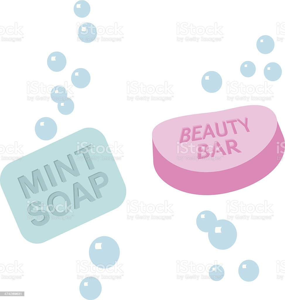 mint and beauty soap royalty-free stock vector art
