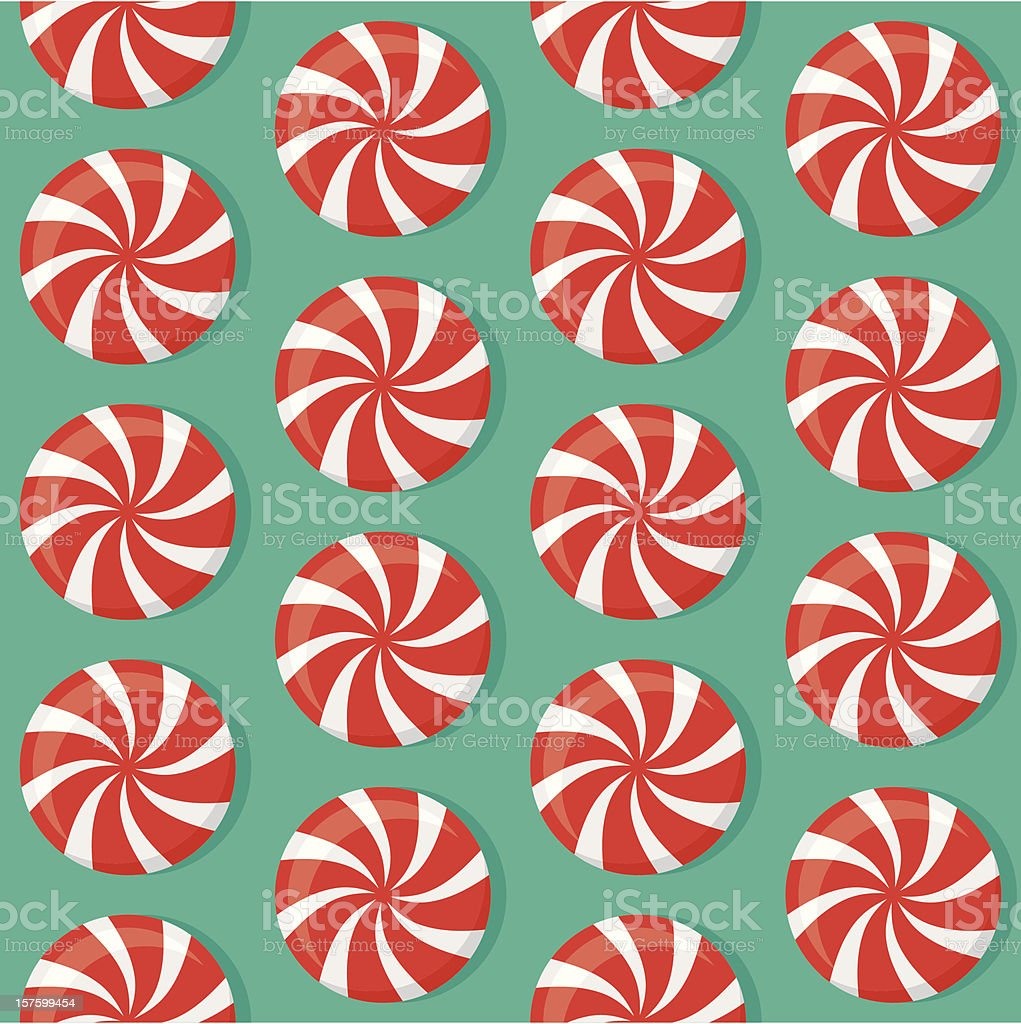 Mint Candies Seamless Pattern royalty-free stock vector art