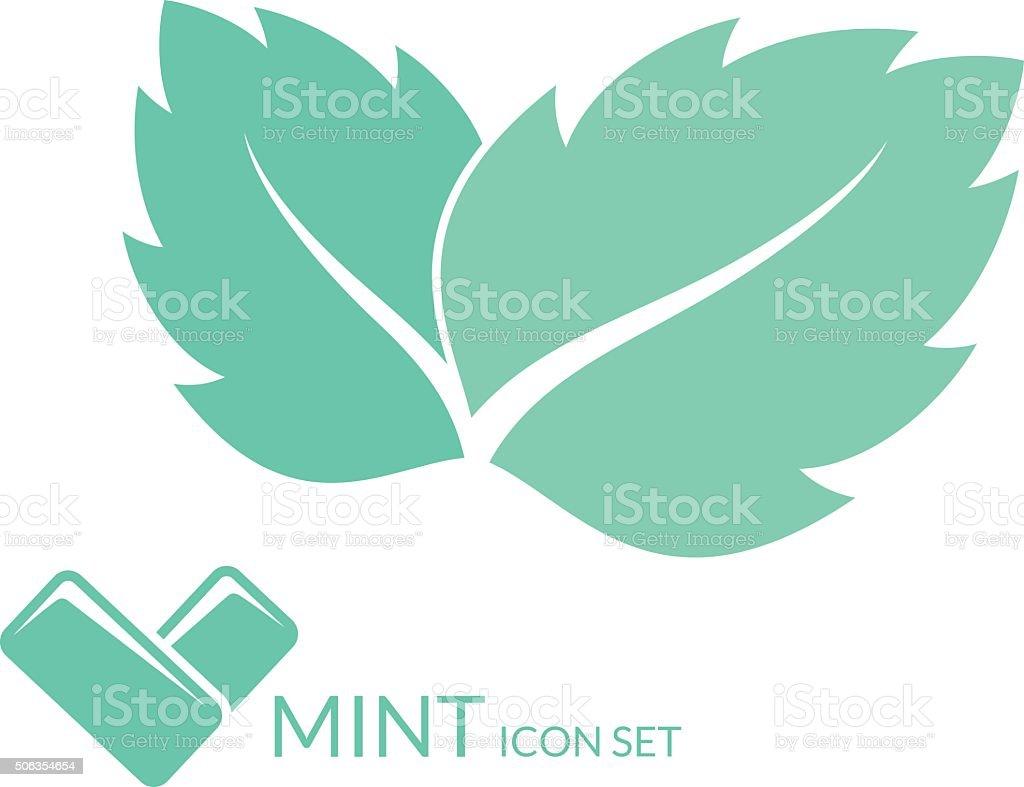 Mint. Chewing gum vector art illustration