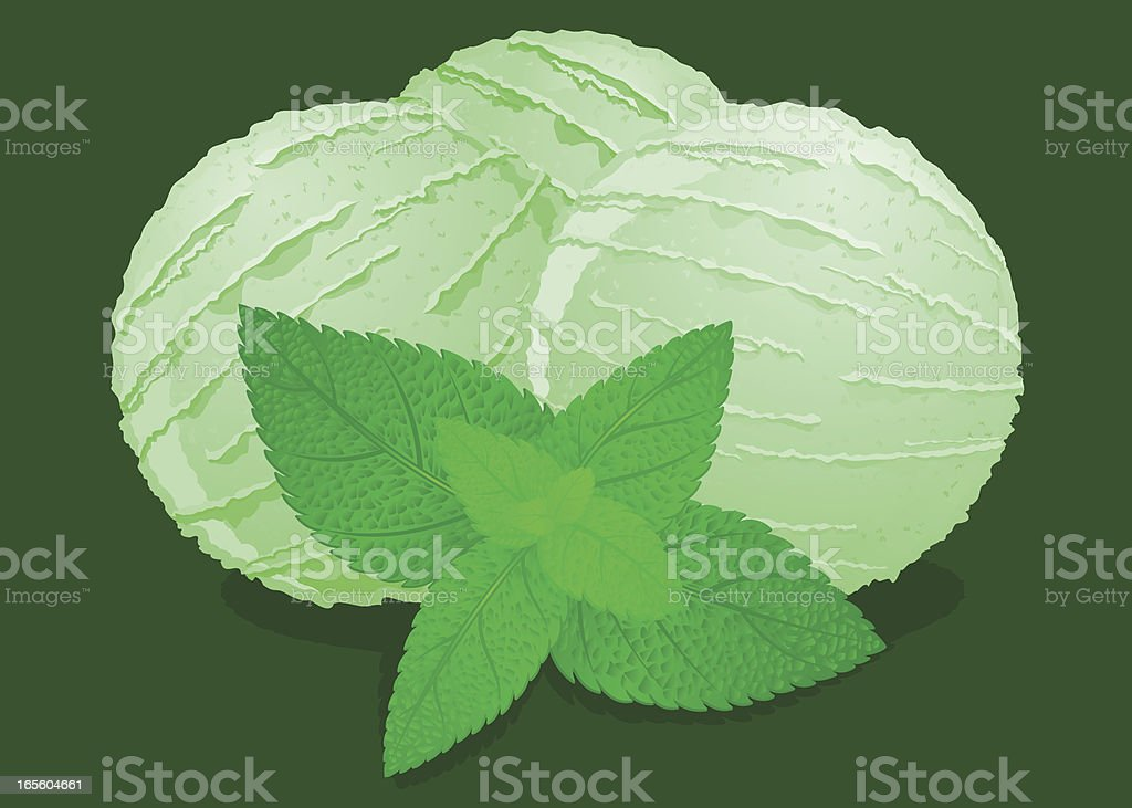 Mint Ice Cream royalty-free stock vector art