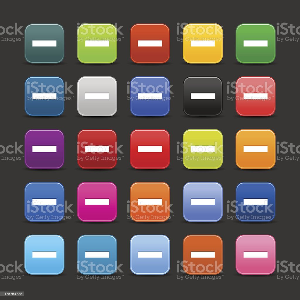Minus sign rounded square icon web internet button royalty-free stock vector art