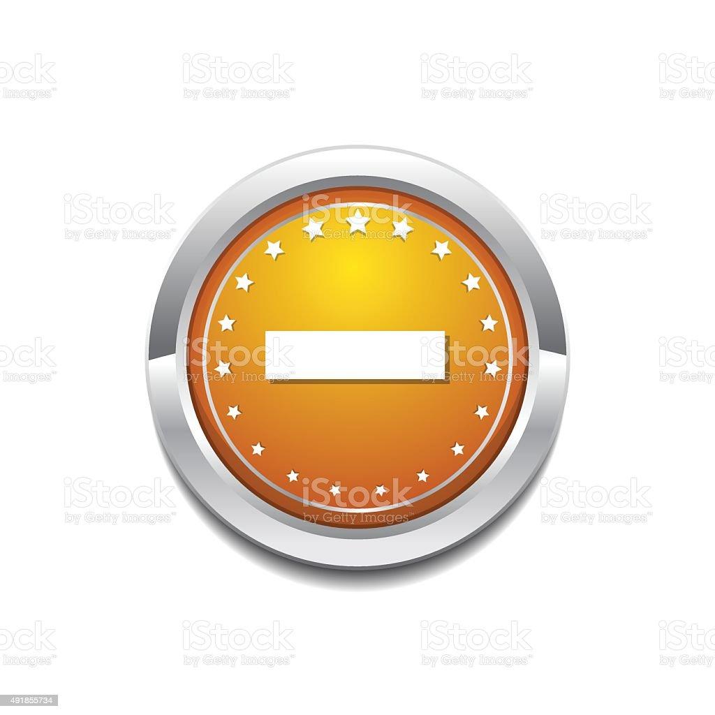 Minus Sign Yellow Vector Icon Button vector art illustration
