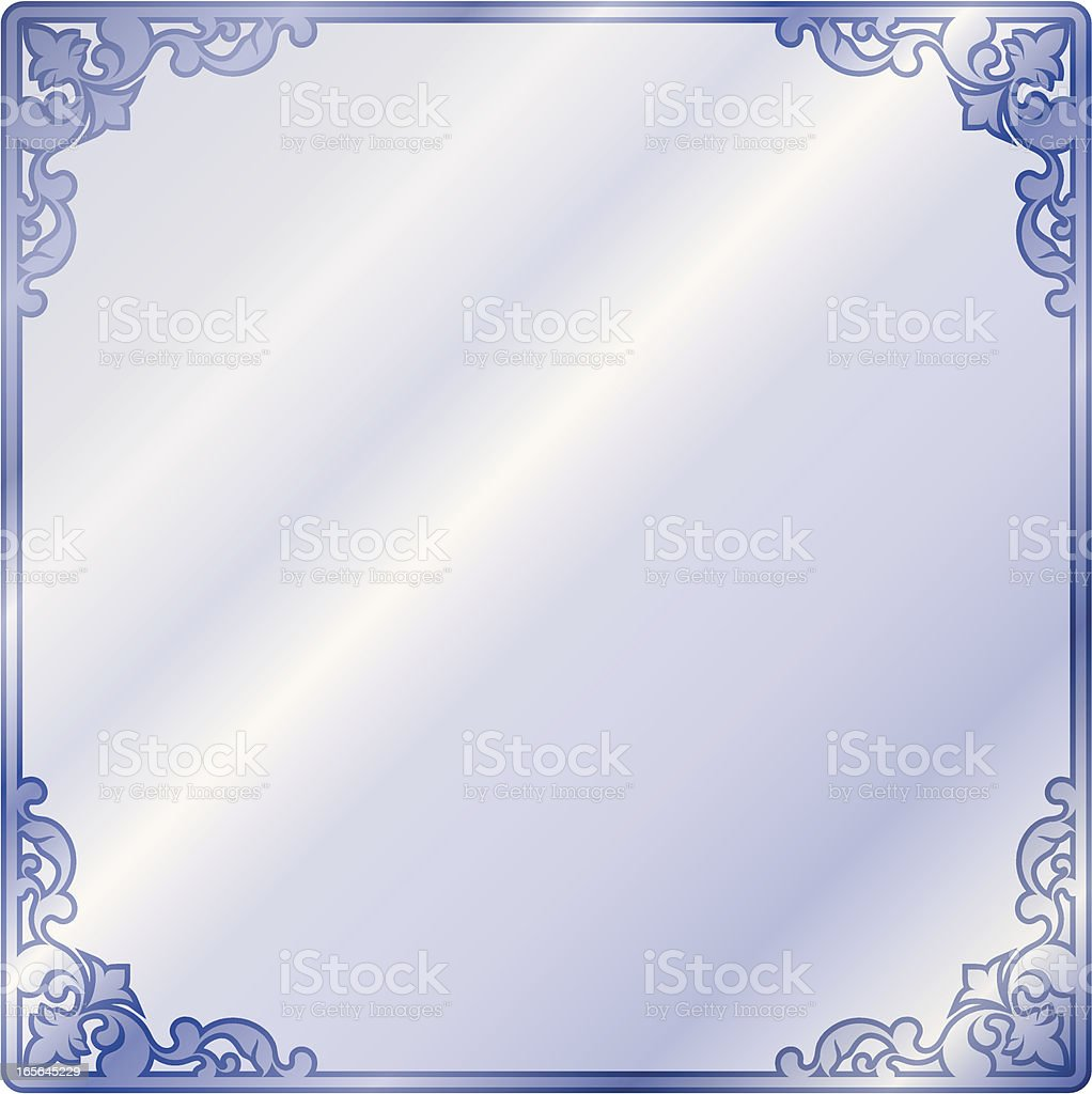 Mirror Frame vector art illustration