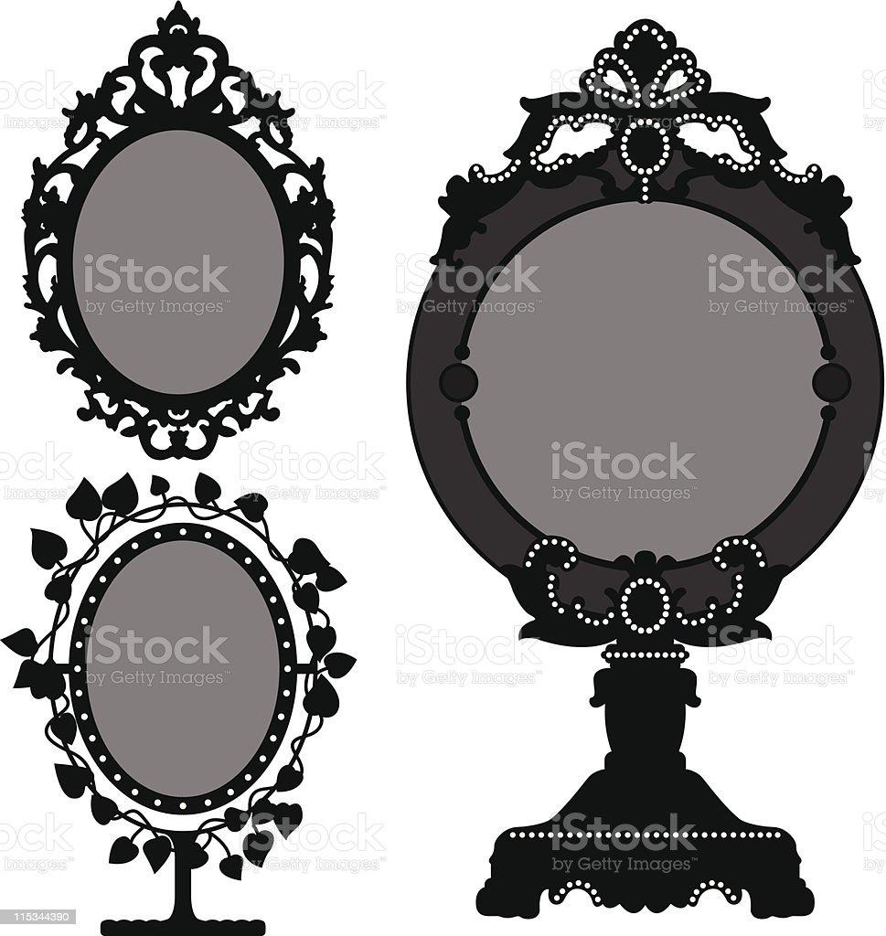 Mirror Ornate Vintage Retro royalty-free stock vector art