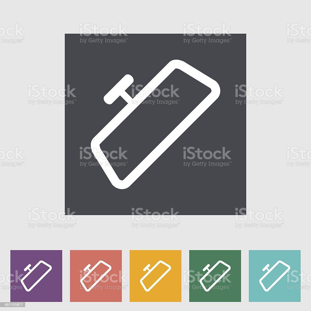 Mirror single flat icon. vector art illustration