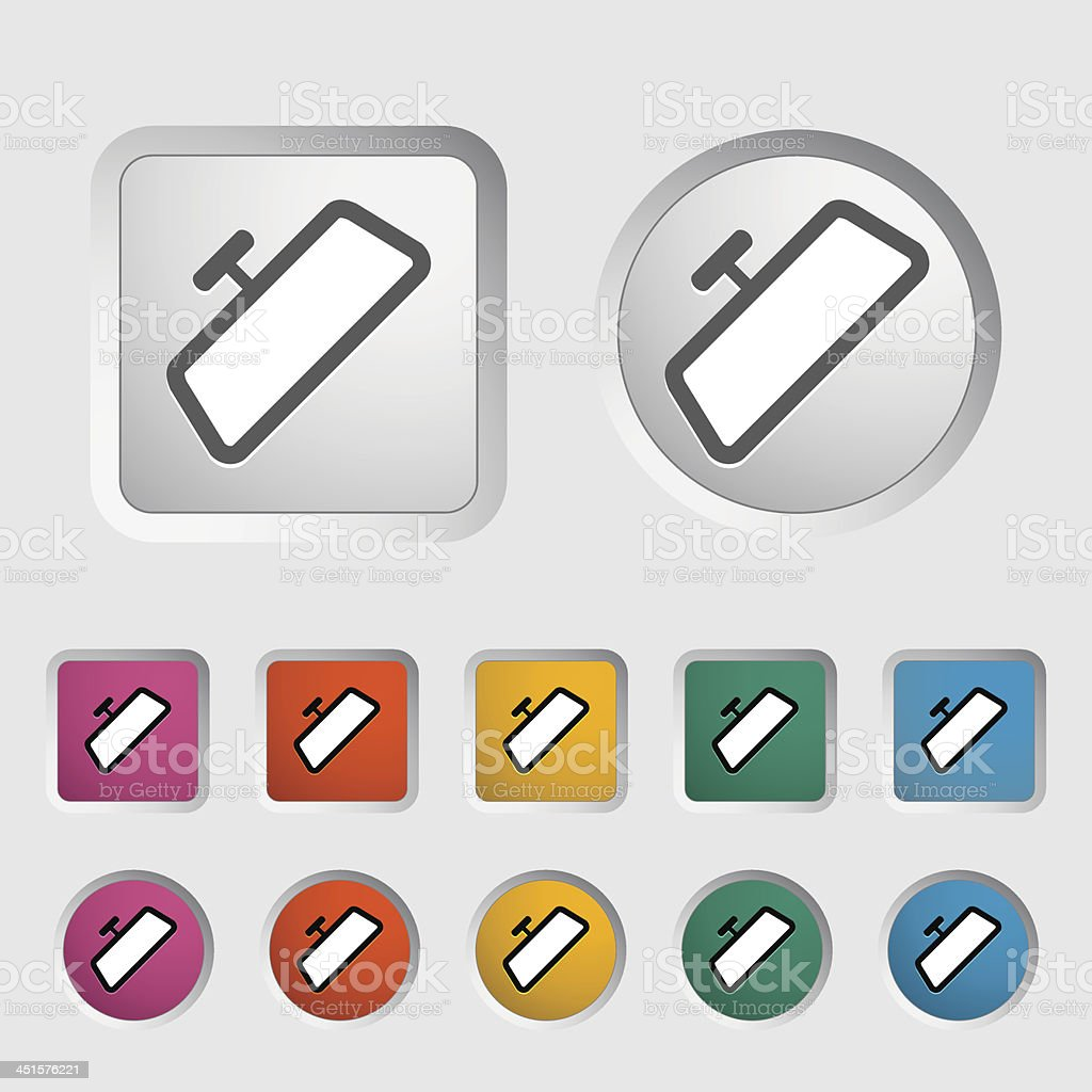 Mirror single icon. vector art illustration