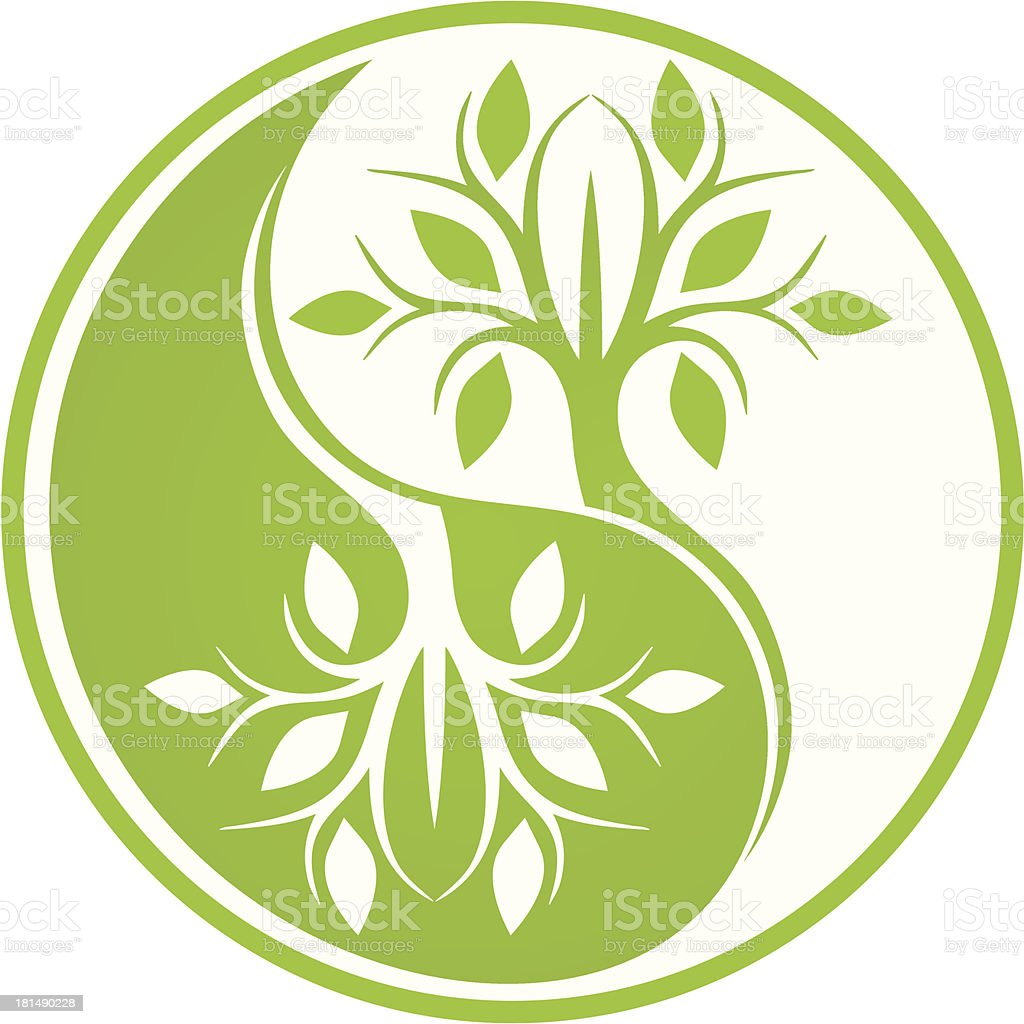 Mirror tree royalty-free stock vector art