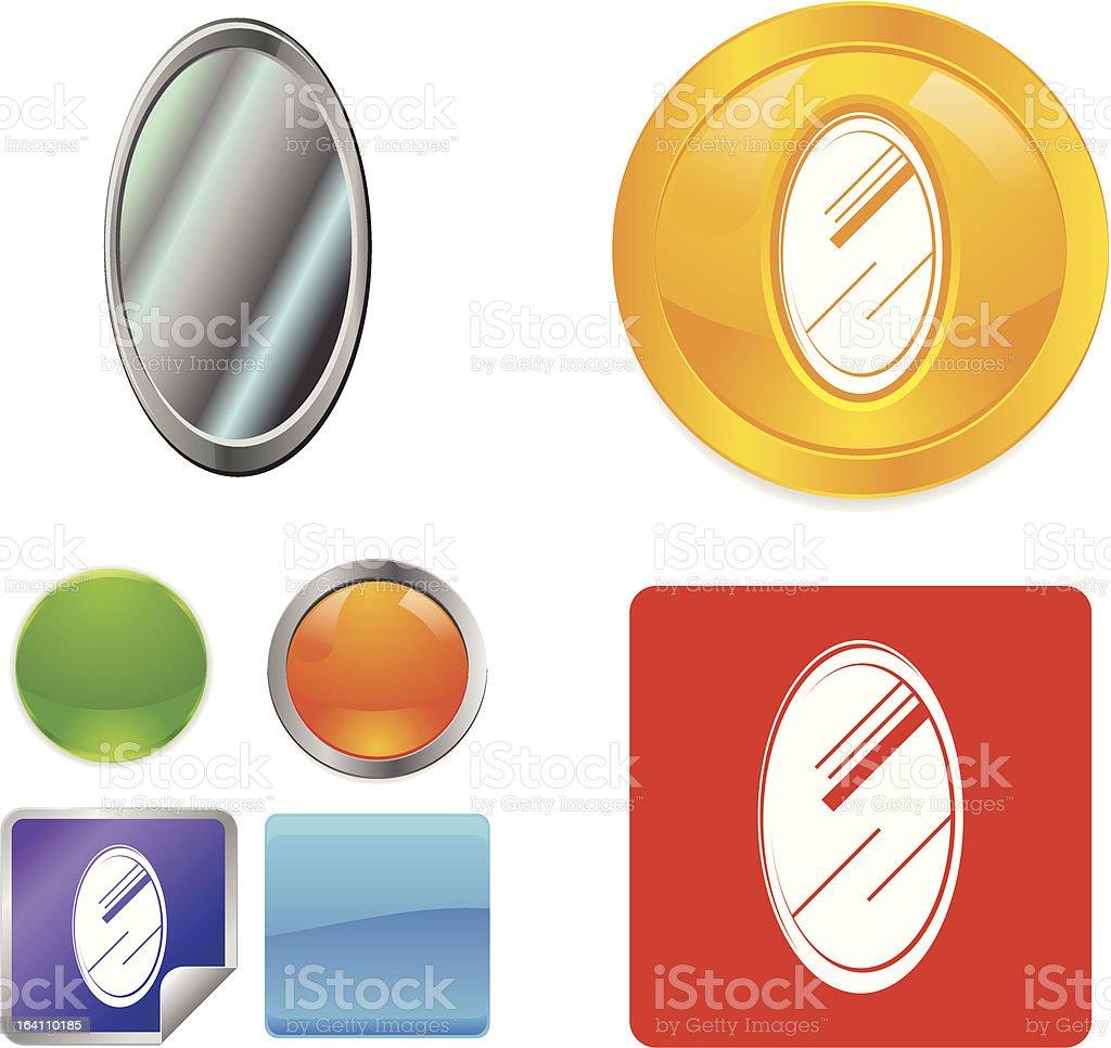 Mirror vector icon royalty-free stock vector art