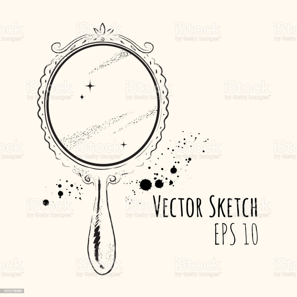 Mirror. vector art illustration