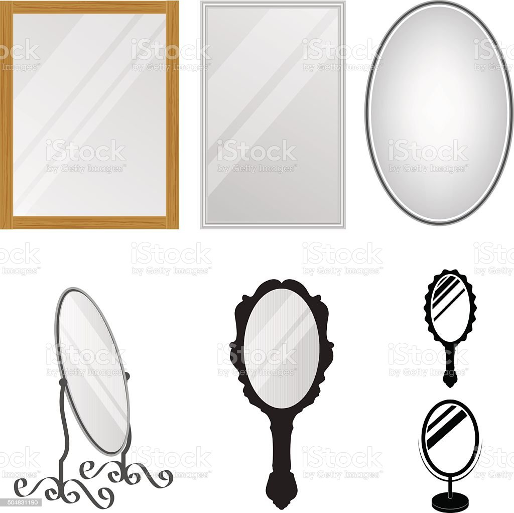 Mirrors vector art illustration
