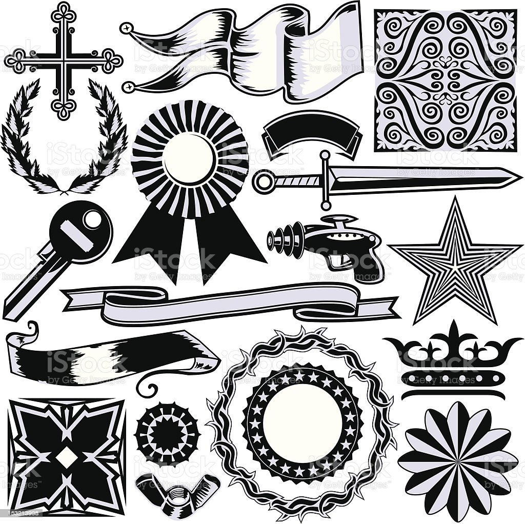 Miscellaneous Design Elements royalty-free stock vector art