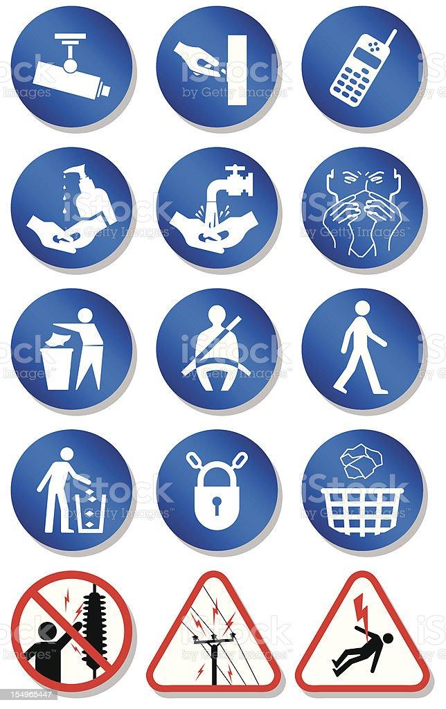 Miscellaneous international communication signs vector art illustration
