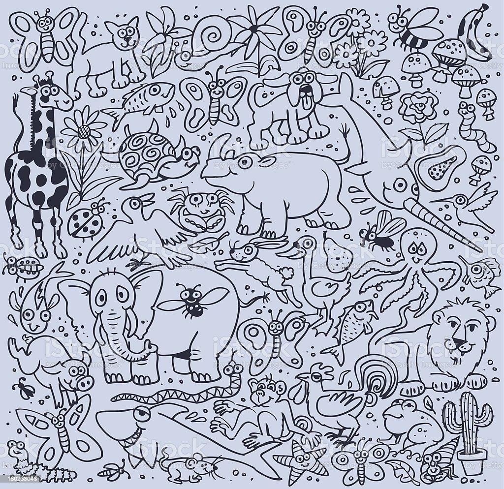 Miscellany Zoo royalty-free stock vector art