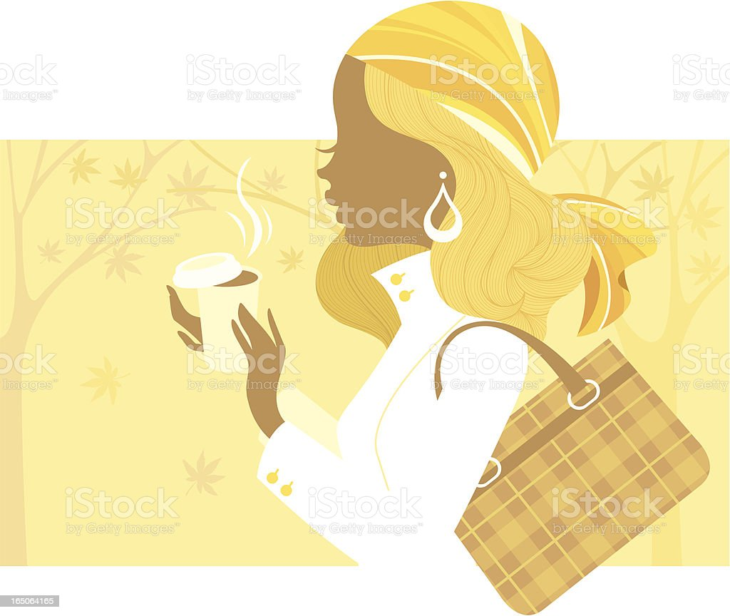 Miss Autumn royalty-free stock vector art