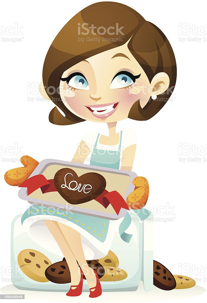 Miss Chocochip Cookies vector art illustration