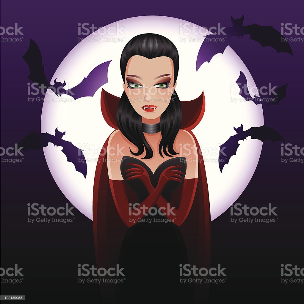 Miss Dracula royalty-free stock vector art